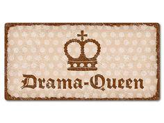 """Drama Queen - Dekoschild Pünktchen mit Wunschtext 200 x 100 mm vintage beige. Dekoschild """"Pünktchen"""" mit Wunschtext 200 x 100 mm vintage beige  Pünktchen trifft"""