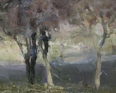 "Small Oaks by Simon Addyman Oil ~ 8 x 10"""