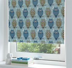 Debel, Rullgardin, Mörkläggande, Owl, Blå, 140x175 cm Gardiner & rullgardiner Textilier Barnrum på nätet hos Lekmer.se