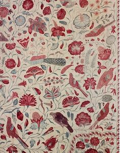 Textile from India, 1720-1750 I think the colours used here are effective and work well together, and I would like to look into textile art.