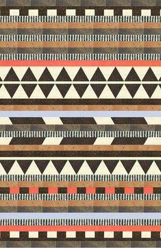 Aztec Pattern Collection Rug #ModernTanksgiving