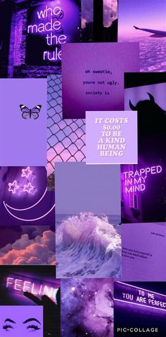 Purple Aesthetic Wallpaper Collage In 2020 | Aesthetic