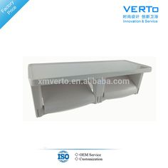 white plastic paper holder double