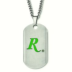 REMINGTON stainless steel dog tag. Classic Collection by Hunter's Jewels. Officially licensed product.