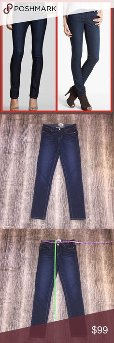Like New! Paige Skyline Skinny Jeans Size 27 Practically brand new! My 16 year old daughter prefers ripped jeans with holes so lucky you! These are in perfect condition! Soft, stretchy fabric. Paige denim jeans. Skyline Skinny. Size 27. Measurements in photos to help assist with fit. PAIGE Jeans Skinny