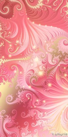 •*´¨`* The Doctrine *´¨`*•.•*´¨`* This fractal was my entry to the Think Pink contest, but that was about the t. A Source of Hope Bling Wallpaper, Flower Phone Wallpaper, Cellphone Wallpaper, Wallpaper Backgrounds, Colorful Wallpaper, Colorful Backgrounds, Fractal Art, New Wall, Cute Wallpapers