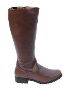 Buy Vegan Knee High Boots from Eco Vegan Shoes - Grip+ Brown Vegan Boots