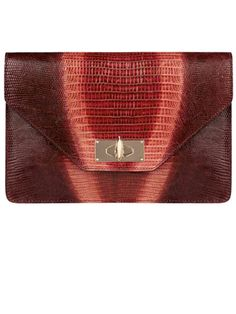 Givenchy by Riccardo Tisci clutch #purse #leather #red