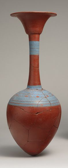 Water bottle from Tutankhamun's embalming cache, New Kingdom, Dynasty 18, reign of Tutankhamun, ca. 1336–1327 B.C.