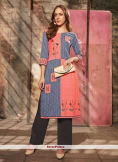 Navy Blue Color, Blue Grey, Kurti Collection, Fabric Shop, Casual Party, Body Size, Grey Fashion, Lehenga Choli, Party Wear