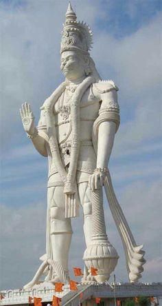 World's largest Hanuman statue located at Parital, Andhra Pradesh