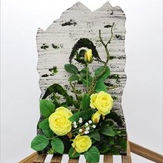 nice  Size:15.7in*9.8in*3in Function:floral arrangement,wall frame,table top frame,centerpiece,tabletop decoration Occasion:Home,hotel,Office,School,Living room,kitchen,bathroom,dining rooms,birthdays,weddings,stages,bedrooms  #Red #Yellow  https://www.silkyflowerstore.com/product/silk-flower-arrangement-with-5-rose-flower-heads/  #Red #Yellow