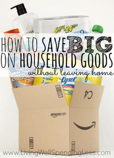 While I still haven't discovered how to get toilet paper for free (I wish!), I do save a ton of money AND effort buying household goods through Amazon Subscribe & Save instead of coupons.