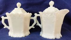 Sugar and Creamer set by Westmoreland Specialty.  Originally sold filled with mustard.