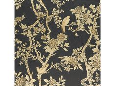 MARLOWE FLORAL  - GILDED LACQUER By Ralph Lauren  [RALPH-64071] Home | DesignerWallcoverings.com | Luxury Wallpaper | @DW_LosAngeles | #Custom #Wallpaper #Wallcovering #Interiors