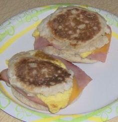 Ham, Egg, and Cheese English Muffin Recipe via @SparkPeople