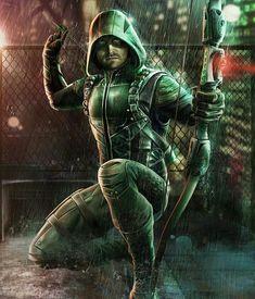 Green Arrow from Injustice 2 Mobile Green Arrow 7 Green Arrow Comics, Arrow Dc Comics, Dc Comics Art, Marvel Dc Comics, Marvel Heroes, Arrow Cw, Team Arrow, Foto Flash, Arrow Cosplay