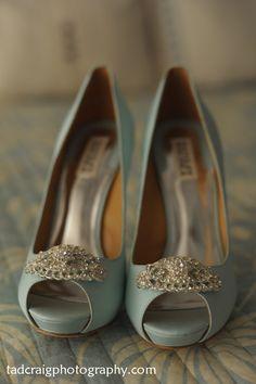 Beautiful light blue shoes! Photo by Tad Craig Photography islandweddingmemories.com
