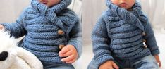 Baby Jacket – Free Pattern & Tutorial Knitted Baby Jacket crossed in front - Baby Knits - [ EASY Pattern & Tutorial ]Knitted Baby Jacket crossed in front - Baby Knits - [ EASY Pattern & Tutorial ] Baby Knitting Patterns, Baby Cardigan Knitting Pattern Free, Baby Booties Free Pattern, Knit Baby Booties, Baby Hats Knitting, Knitting For Kids, Easy Knitting, Baby Pullover, Crochet Baby