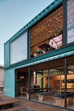 Wahaca southbank experiment: Shipping container restaurant designed by Softroom Architects, London, UK