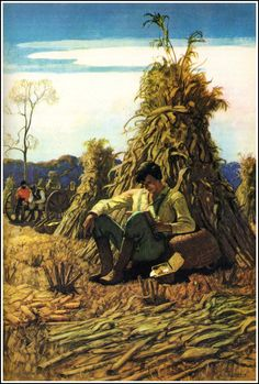 "Ilustration by N.C. Wyeth from ""The Anthology of Children's Literature"" (1940)"