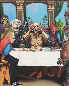 The Best Supper by Hillary White  (adapted from Hans Holbein's The Last Supper)    This truly would be the best supper.
