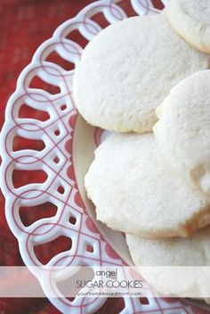 "Angel Sugar Cookies - light and delicious.  Good ""naked"" or with frosting"