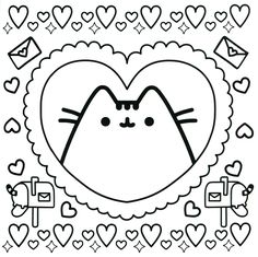 Inspired Photo of Pusheen Cat Coloring Pages . Pusheen Cat Coloring Pages Pusheen Cat Coloring Pages For Kids With Fresh Design Pusheen Cat Pusheen Coloring Pages, Unicorn Coloring Pages, Easy Coloring Pages, Cat Coloring Page, Cartoon Coloring Pages, Mandala Coloring Pages, Coloring Pages To Print, Free Printable Coloring Pages, Free Coloring