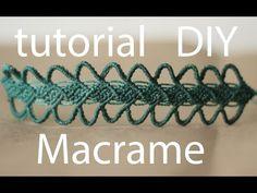 tutorial pulseras macrame cavandoli bracelet macrame - YouTube
