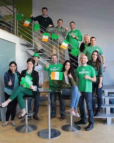 St. Patrick's Day with the management team at TechWyse.