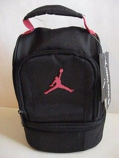 7af52546510 New NIKE AIR JORDAN INSULATED DOME 2-PART LUNCH TOTE BAG BOX Black Red  Jumpman