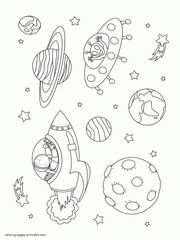 46 printable coloring pages of space there are rocket ships satellites solar system planets astronauts and aliens colouring book to print for kids - Space Coloring Pages Toddlers