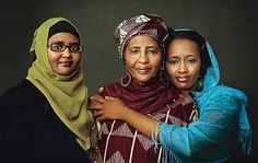 #GiraffeHeroes Dr. Hawa Abdi with her daughters Amina and Deqa. These amazing women have provided food, shelter, and medical care to over 90,000 refugees who have fled the fighting in Mogadishu, Somalia, as well as essential training and education for nurses and midwives. They are saving lives every day and educating women & their children through a school & a women's center they've created.