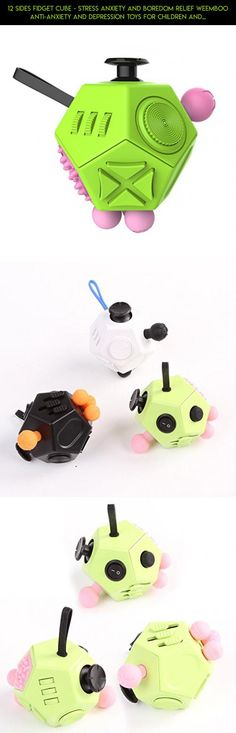 12 Sides Fidget Cube - Stress Anxiety and Boredom Relief Weemboo Anti-anxiety and Depression Toys for Children and Adults (Green) #fidget #tech #fpv #camera #gadgets #shopping #racing #products #cube #drone #plans #kit #technology #jumbo #parts