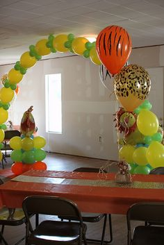 Jungle Theme Party Ideas for Kids - Photos, tips for decorations, games & food.