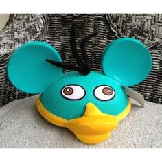 Disney Perry the Platypus Adult Size Mickey Mouse Ears Hat Cap New