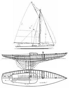 Indian Harbor One-Design drawing on sailboatdata.com