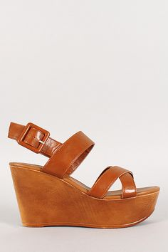 f851aed3352b Bamboo Ankle Strap Platform Peep Toe Wedge