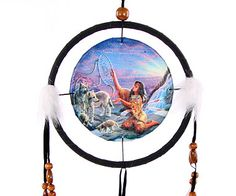 Decorative Native American Catching Dreams 16cm Dreamcatcher Dreamcatchers are a great way to add colour and design to your home or workplace Made