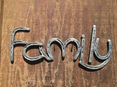 Horse Shoe Family Sign  Rustic Country Home by RusticandCountry, $72.00