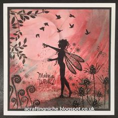 A Crafting Niche: Fairy Make A Wish Card using an assortment of stamps including ones by Lavinia and Bee Crafty. Lavinia Stamps Cards, Asian Cards, Fairy Statues, Fairy Silhouette, Handmade Stamps, Pebble Painting, Creative Cards, Cards To Make, Scrapbook Cards