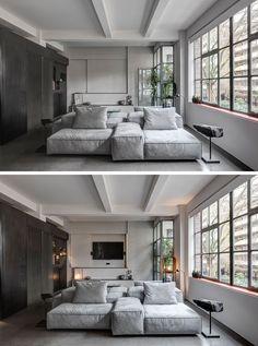 You wouldn't expect that this beautiful apartment was once a shoe factory!