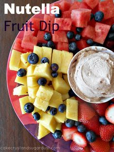 Nutella Fruit Dip...perfect for a fruit platter or serve with pretzels and graham crackers {Cake, Crust, and Sugar Dust}