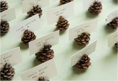 DIY pinecone place cards!
