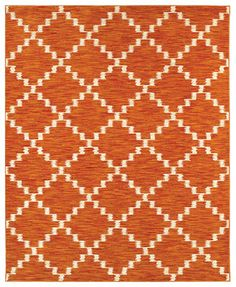 """Shaw Living Area Rug, Neo Abstracts 02600 Atrium Tangerine 7'9\"""" x 10'3\"""""""