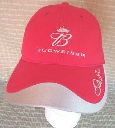 Dale Earnhardt Jr Nascar Baseball Cap Budweiser Race Velcro Strap… 967baf198454