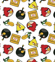 Angry Birds Tnt Cotton Fabric