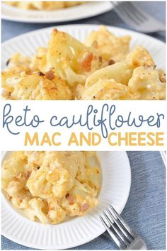 This keto cauliflower mac and cheese is the PERFECT side dish for dinner! It's creamy, savory and makes a perfect low carb cauliflower mac and cheese. You will LOVE this delicious keto cauliflower recipe! Ketogenic Recipes, Low Carb Recipes, Diet Recipes, Healthy Recipes, Cooking Recipes, Keto Shrimp Recipes, Keto Crockpot Recipes, Low Carb Desserts, Lunch Recipes