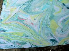 Homemade Marbled Paper with Shaving Cream