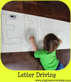 Play and Learn Everyday: Letter Driving
